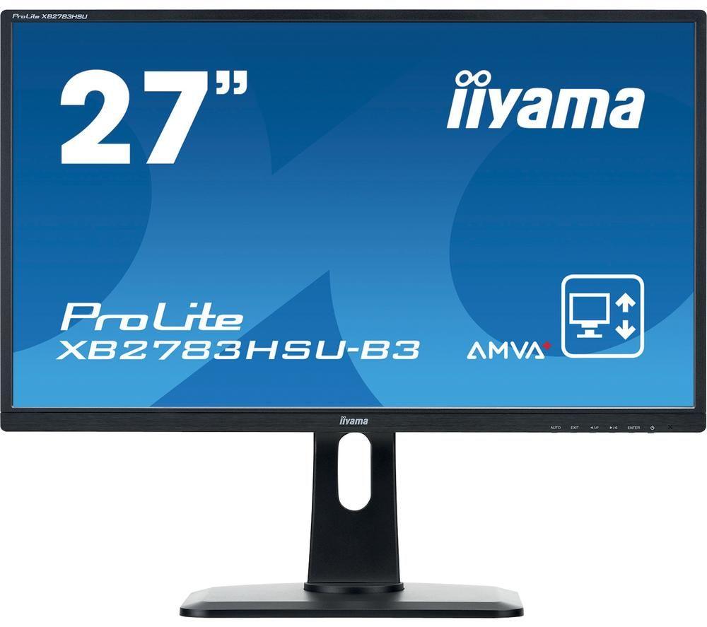 """IIYAMA ProLite XB2783HSU-B3 27"""" Full HD LCD Monitor - Black"""