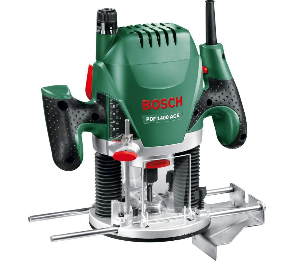 BOSCH POF 1400 ACE Plunge Router - Black & Green