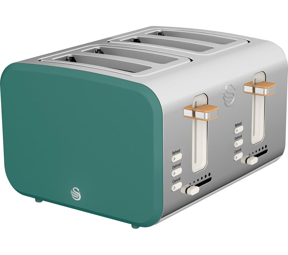 SWAN Nordic ST14620GREN 4-Slice Toaster - Green