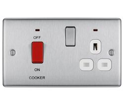 Decorative NBS70W-01 Power Socket - Silver