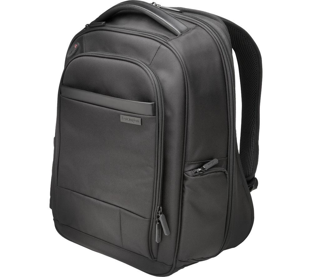 """KENSINGTON Contour 2.0 Business 15.6"""" Laptop Backpack - Black"""