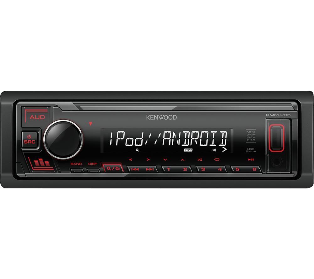 KENWOOD KMM-205 Car Stereo - Black