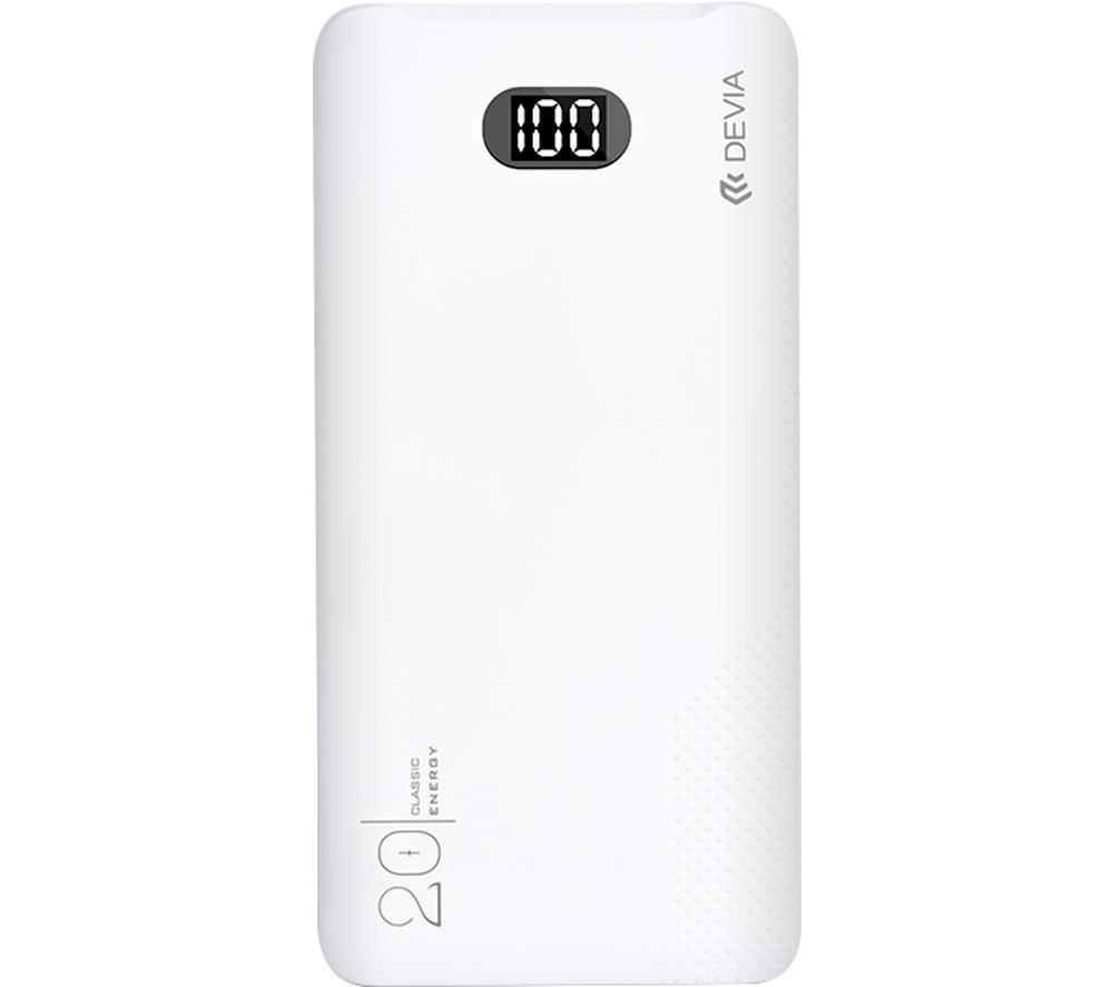 DEVIA DEV-DIGITAL-POW20-WHT Portable Power Bank - White