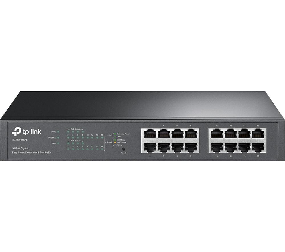 TP-LINK TL-SG1016PE Managed Network Switch - 16-port
