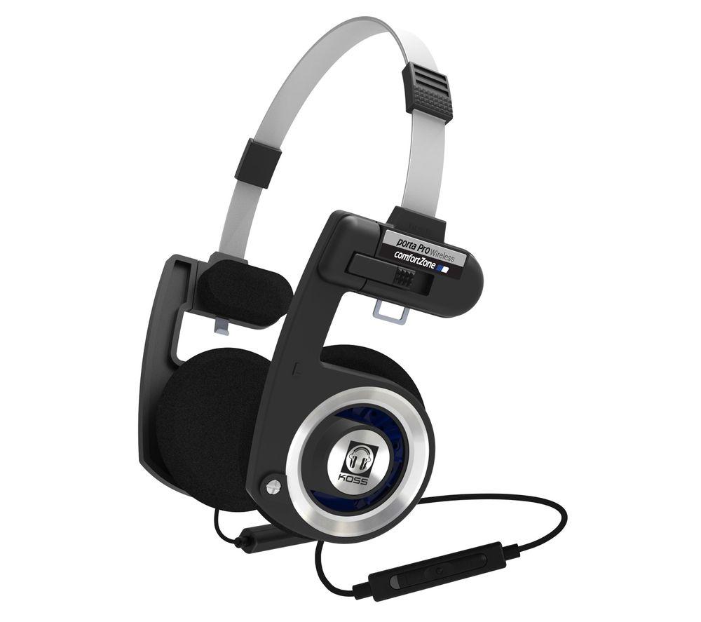 KOSS Porta Pro Wireless Bluetooth Headphones - Black