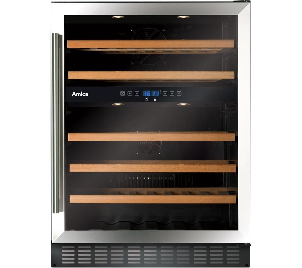 AMICA AWC601SS Undercounter Wine Cooler - Stainless Steel
