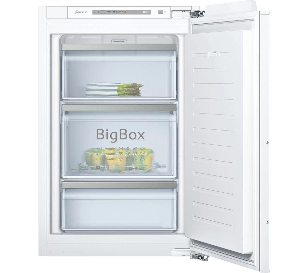 NEFF GI1216DE0 Integrated Freezer - Fixed Hinge, Transparent