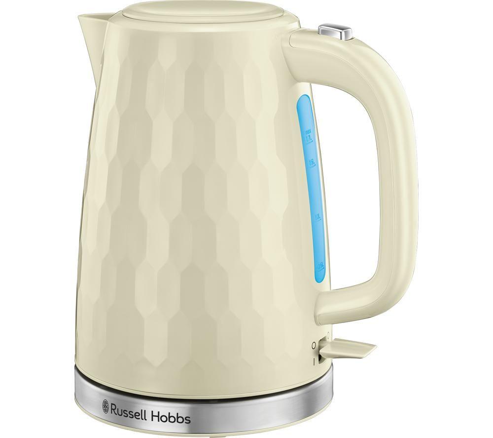 RUSSELL HOBBS Honeycomb 26050 Jug Kettle - Cream, Cream
