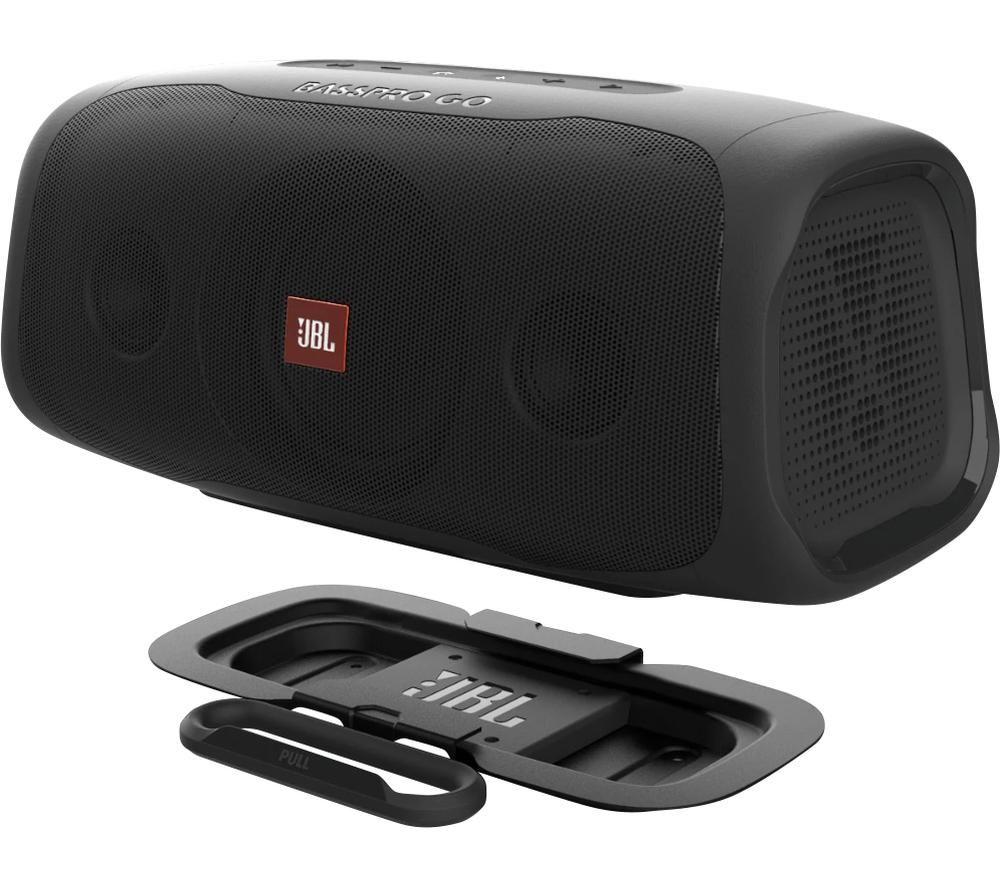 JBL BassPro Go Car Subwoofer & Bluetooth Portable Speaker - Black, Black