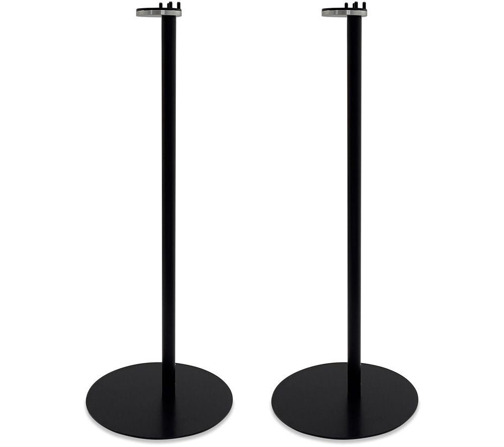 AVF AKVFSS1B2 Sonos One & Play:1 Floorstand Fixed Speaker Bracket Pair - Black, Black