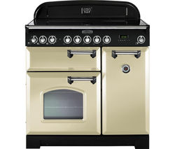 RANGEMASTER Classic Deluxe 90 Electric Induction Range Cooker - Cream & Chrome