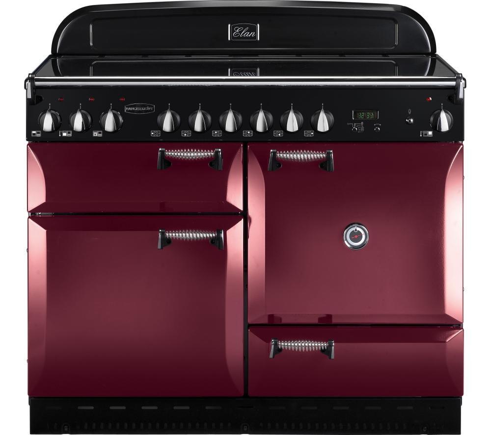 RANGEMASTER Elan 110 Electric Range Cooker - Cranberry & Chrome