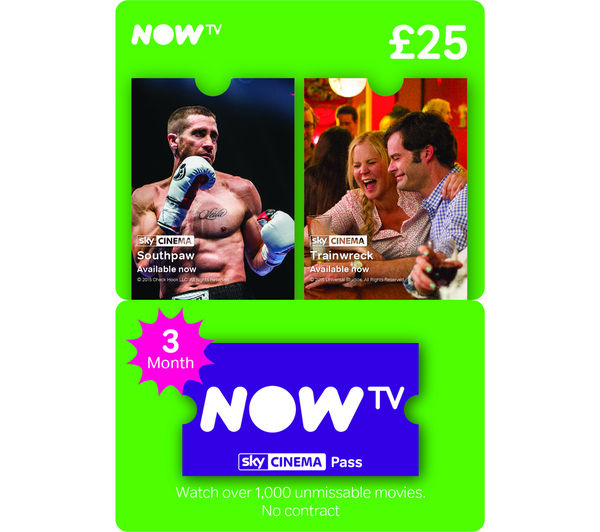 Image of NOW TV Sky Movies Pass - 3 Month