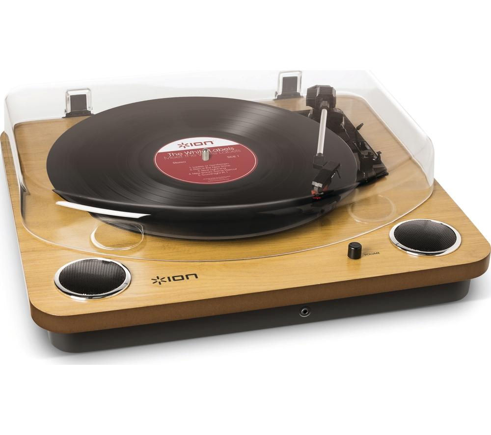 ION Max LP Belt Drive Turntable - Wood