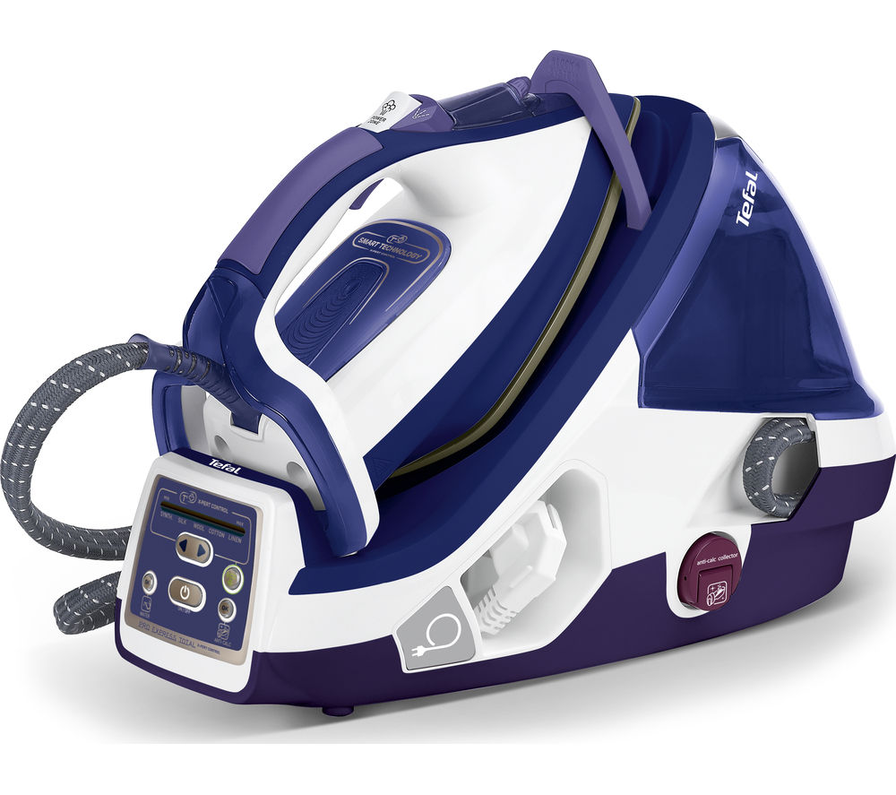 TEFAL  Pro Express Total X-pert GV8976 Steam Generator Iron - Purple & White, Purple