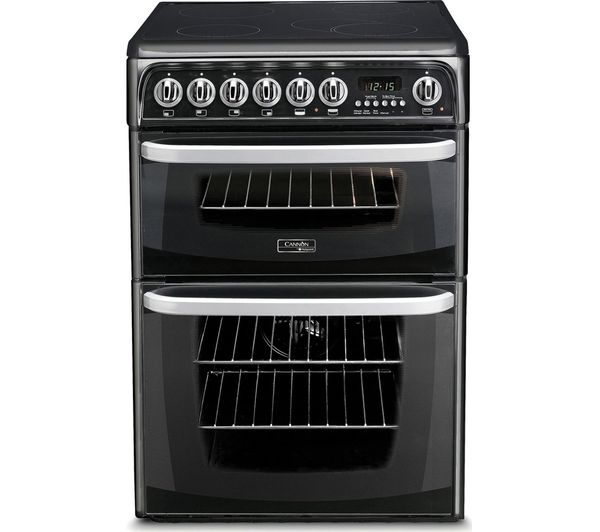 CANNON CH60EKK 60 cm Electric Ceramic Cooker - Black