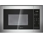 NEFF H12WE60N0G Built-in Solo Microwave - Stainless Steel