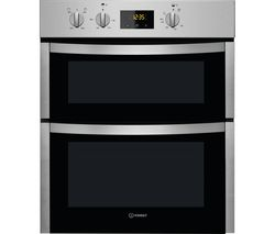 INDESIT Aria DDU 5340 C IX Electric Built-under Double Oven - Stainless Steel