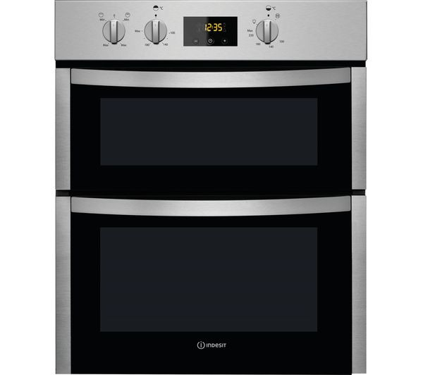 Image of INDESIT Aria DDU 5340 C IX Electric Double Oven - Stainless Steel