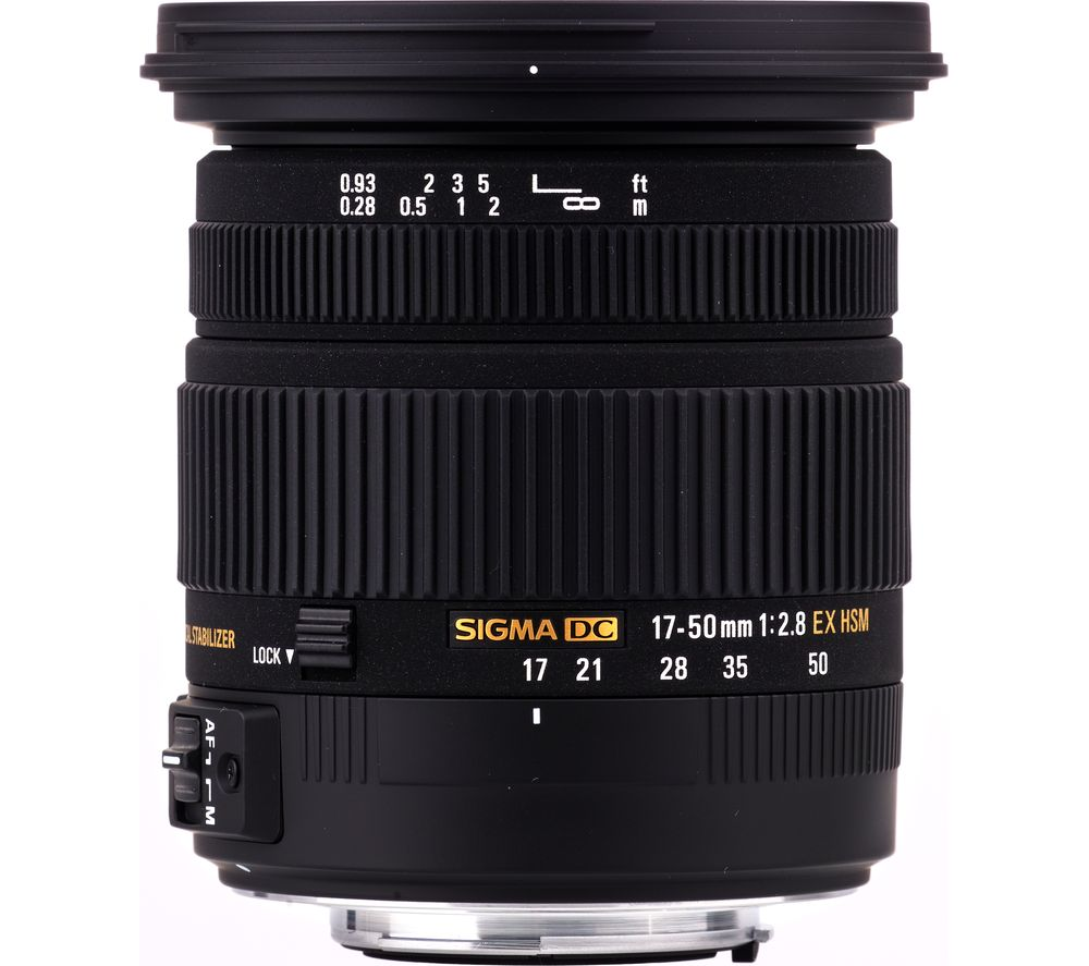 sigma 17 50 mm f 2 8 ex dc hsm standard zoom lens for. Black Bedroom Furniture Sets. Home Design Ideas