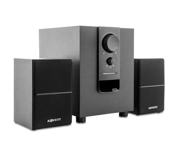 buy advent asp21bk17 2 1 pc speakers black free. Black Bedroom Furniture Sets. Home Design Ideas