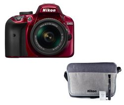 NIKON D3400 DSLR Camera with 18-55 mm f/3.5-5.6G VR Lens - Red