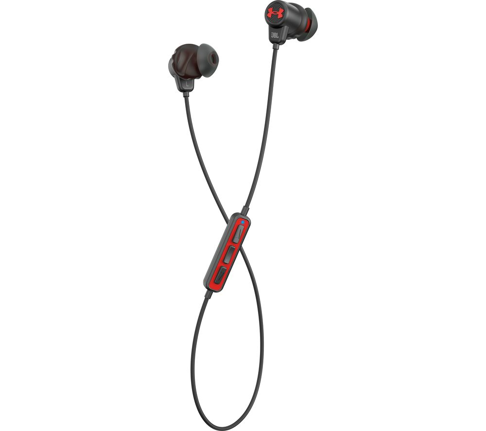 JBL Under Armour Sports Wireless Bluetooth Headphones - Black & Red
