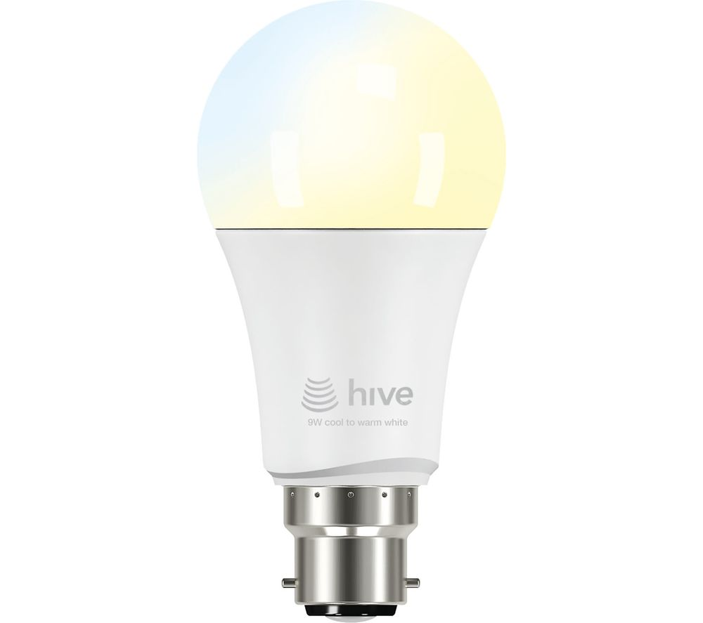 buy hive active light cool to warm white bulb b22 hub. Black Bedroom Furniture Sets. Home Design Ideas