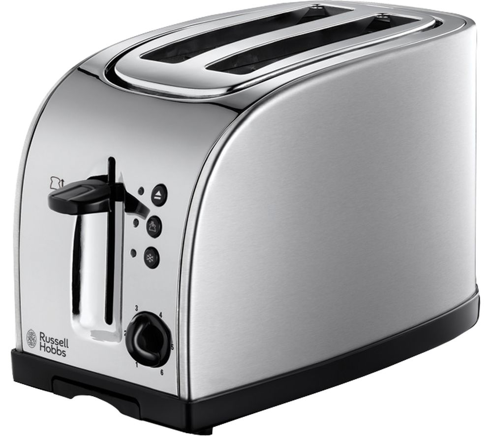 buy russell hobbs texas 18096 2 slice toaster stainless steel free delivery currys. Black Bedroom Furniture Sets. Home Design Ideas
