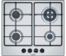 BOSCH PGH6B5B60 Gas Hob - Stainless Steel