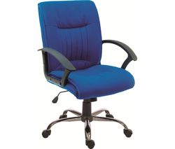TEKNIK Milan Fabric Reclining Executive Chair - Blue