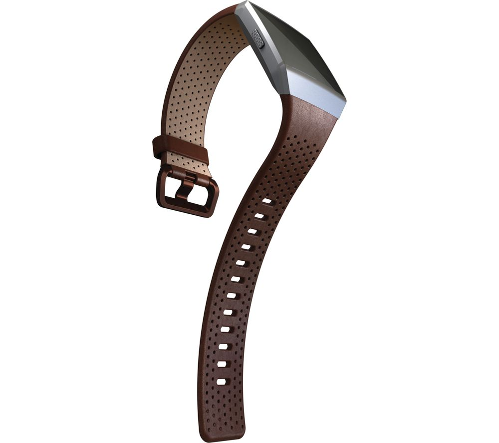 FITBIT Ionic Leather Band - Cognac, Small