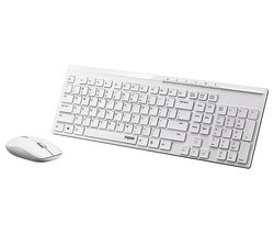 RAPOO X8100 Wireless Keyboard & Mouse Set - White