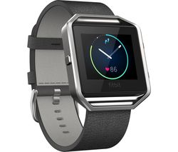 FITBIT Blaze Leather Accessory Band - Small, Black