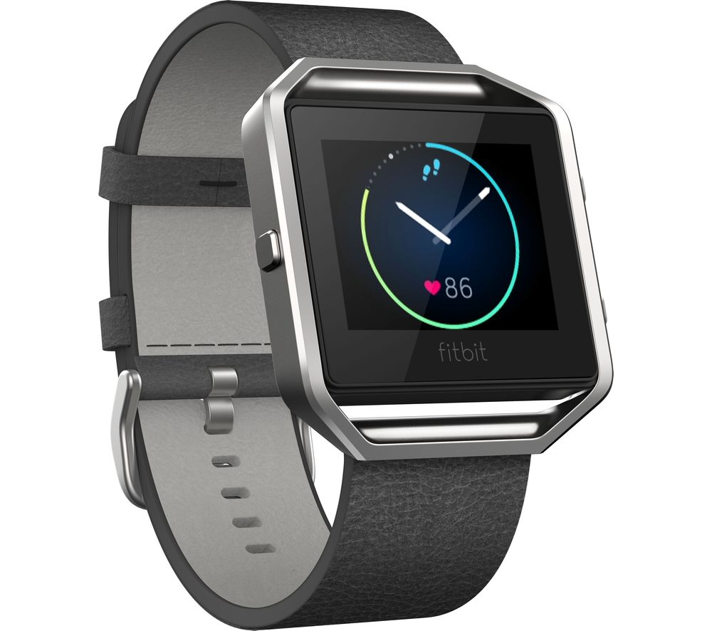 Compare prices for Fitbit Blaze Leather Accessory Band - Small - Black