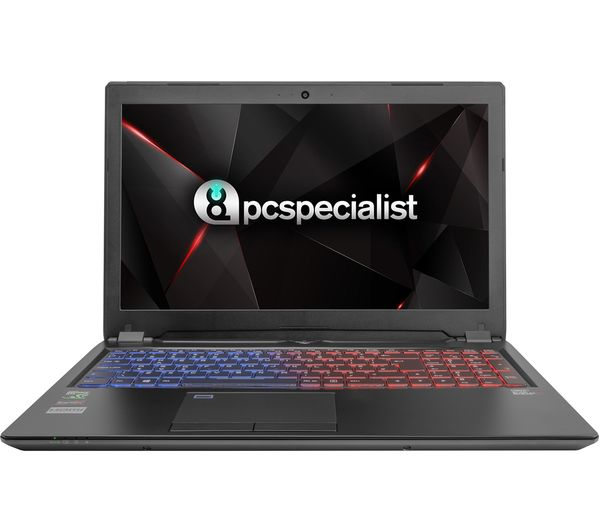 """Image of PC SPECIALIST Defiance XS RT15-XTR 15.6"""" Gaming Laptop - Black"""