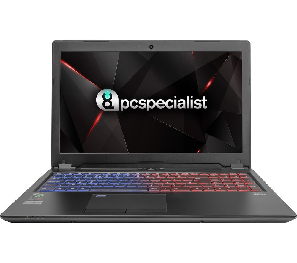 """Image of PC SPECIALIST Defiance XS RT15-XTR 15.6"""" Gaming Laptop - Black, Black"""
