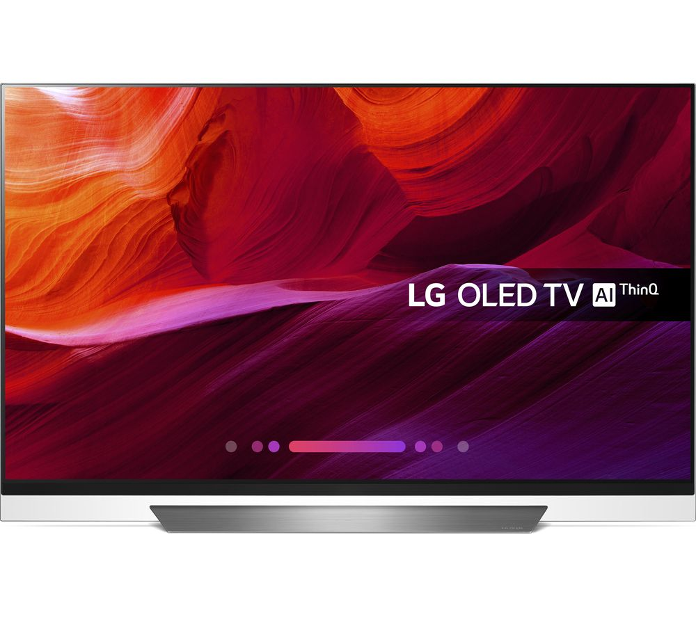 "55"" LG OLED55E8PLA Smart 4K Ultra HD HDR OLED TV, Black"