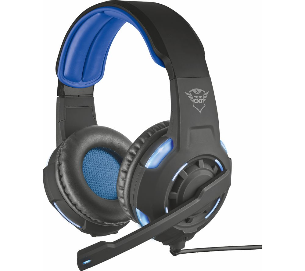 TRUST GXT 350 Radius 7.1 Gaming Headset - Black & Blue