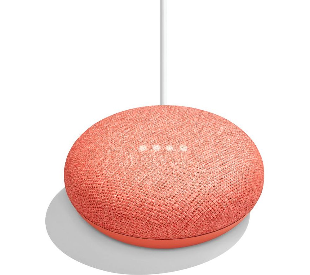 GOOGLE Home Mini - Coral, Coral