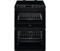AEG CCB6761ACB 60 cm Electric Ceramic Cooker - Black Best Price, Cheapest Prices
