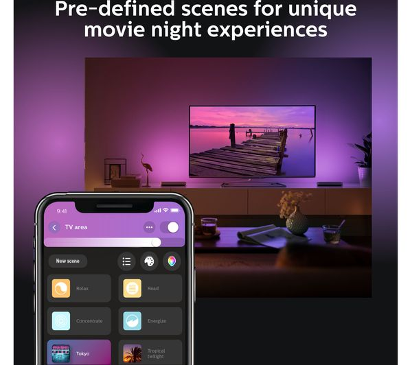 PHILIPS Hue Play Light Bar - Black, Twin Pack