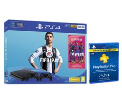 SONY PlayStation 4 500 GB with FIFA 19, Wireless Controller & 3 Month PS Plus Subscription