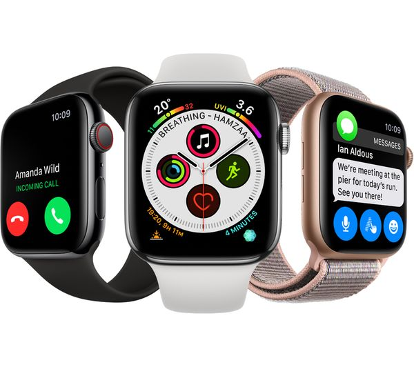 Buy APPLE Watch Series 4 Cellular - Gold & Pink Sports