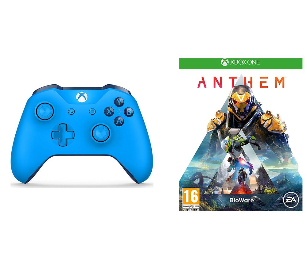 MICROSOFT Anthem & Xbox Wireless Controller Bundle - Blue, Blue