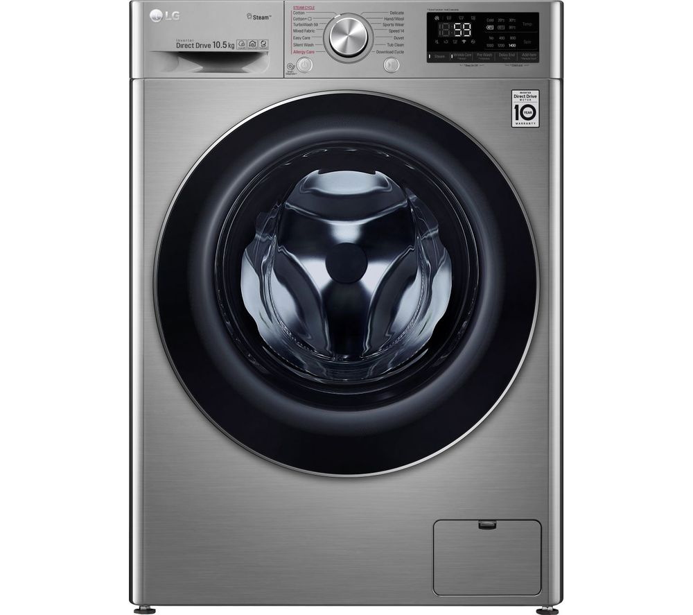 LG TurboWash with AI DD V7 F4V710STS WiFi-enabled 10.5 kg 1400 Spin Washing Machine - Graphite