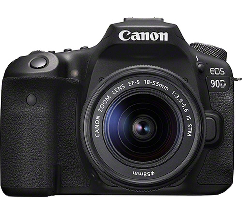 CANON EOS 90D DSLR Camera with EF-S 18-55 mm f/3.5-5.6 IS STM Lens