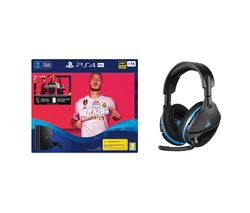 SONY Playstation 4 Pro with FIFA 20 & Turtle Beach Gaming Headset Bundle - 1 TB