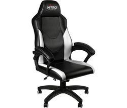 NITRO CONCEPTS C100 Gaming Chair - Black & White