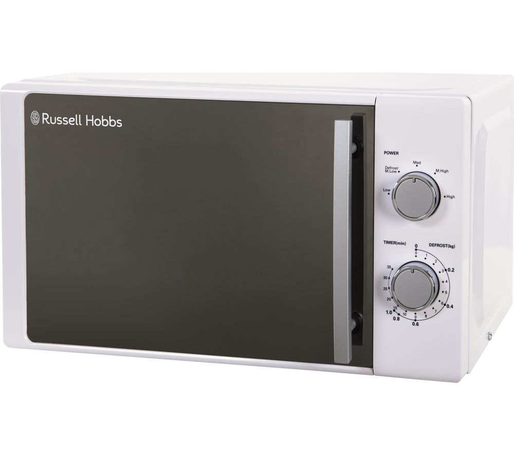 RUSSELL HOBBS RHM2060 Compact Solo Microwave - White, White